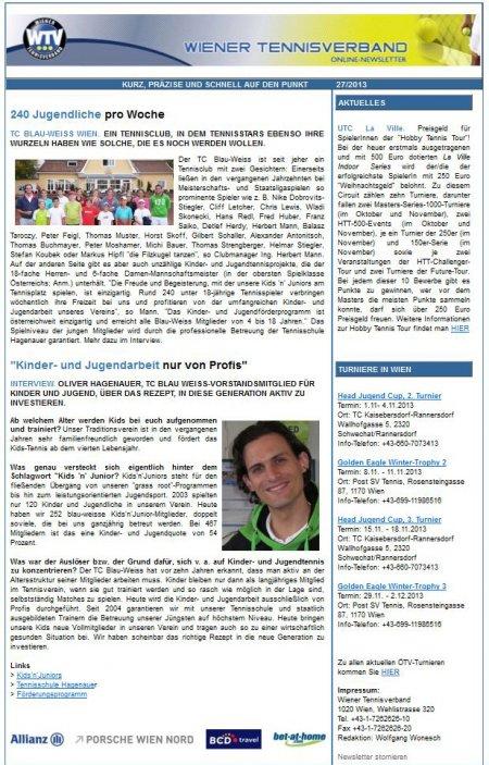 WTV-Newsletter 27/2013